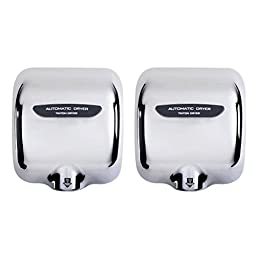OLizee Heavy Duty Commercial Stainless Steel Automatic Hand Dryer 2 Pack (2, Mirror)
