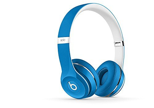 Beats Solo2 On-Ear Headphone Luxe Edition (WIRED, Not Wireless) (Refurbished) – Blue