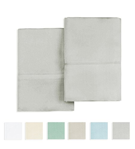 Pizuna Linens 400 Thread Count 100% Cotton Pillow cases, Lig