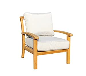 Courtyard Casual 5027 Heritage Outdoor Lounge Chair, Natural Teak