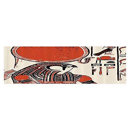 Auraise Heybee Aquarium Decorative Papyrus with Mod with Ancient Egyptian Language Symbol Vintage Home Decoration 23.6