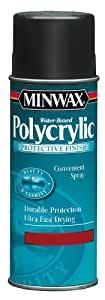 Minwax 35555000 Water-Based Polycrylic Clear Spray, 11.5 ounce Aerosol, Gloss