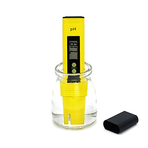 HiHydro PH Meter Digital PH Tester Pen for Household Drinking Water, Aquarium, Swimming Pools, Hydroponics, Water Quality, 0.01/High Accuracy +/- 0.05 and 0.00-14.00 Measurement Range