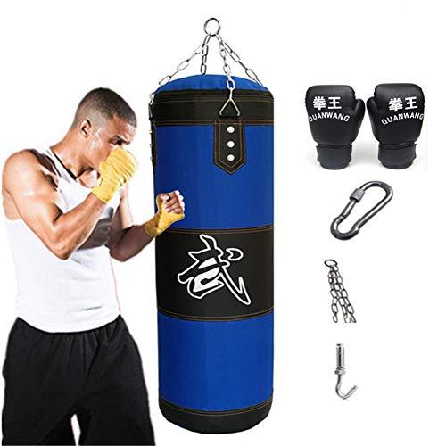 Aquarius CiCi Boxing Heavy Punching Training Bag Sandbags with Chains + Handbag Hook + Boxing Gloves + Hands Bandages…