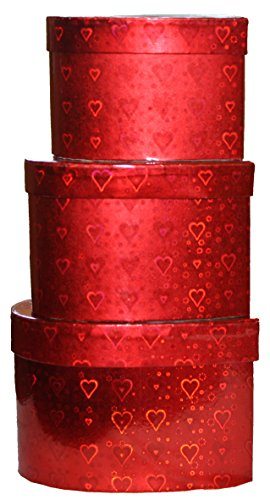(Wald Heart Shaped Decorative Nesting Boxes - Set of 3)