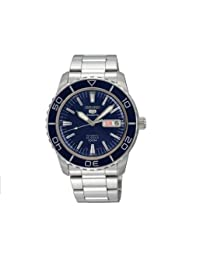 Seiko Men's SNZH53 Seiko 5 Automatic Dark Blue Dial Stainless Steel Watch