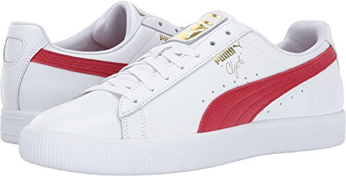 - PUMA Men's Clyde Core L Foil White/Barbados Cherry/Gold 11.5 D US