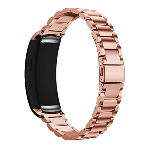 Becoler Stainless Steel Strap Wrist Band Replacement Watch Bands for Samsung Gear Fit 2 R360