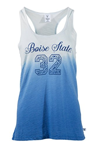 Official NCAA Boise State Broncos BSU Buster Bronco Women's Ombre Racerback Tank Top ()