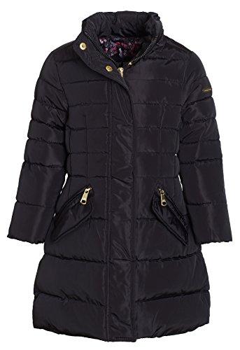 Steve Madden Girls Winter Down Alternative Hooded Long Bubble Puffer Jacket Coat - Black (Size 5/6) by Steve Madden