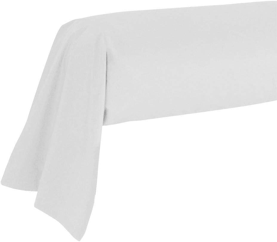 85 x 185 cm Blanc dkdo Taie de traversin Unie