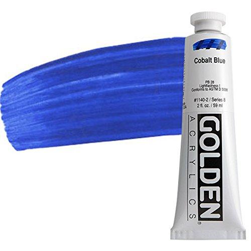 Golden Heavy Body Acrylic Paint, 2-Ounce, Cobalt -