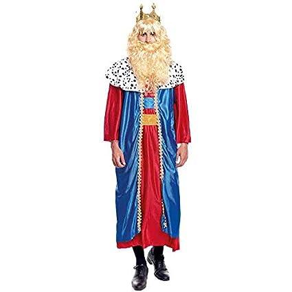 Disfraz Rey Mago Melchor hombre adulto para Navidad S: Amazon.es ...