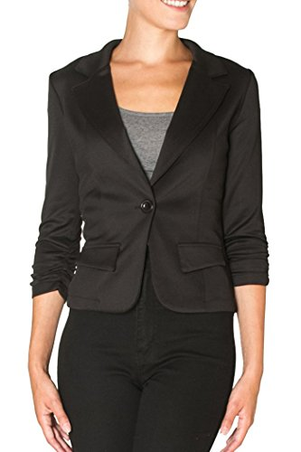 Women's Casual or Wear to Work Solid Color Blazer 1 Button in Knit. Also Good for a night out. (x-small, (Party City Canada Careers)