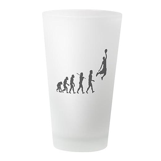 CafePress – baloncesto Evolution Jump – Vaso, 16 oz. Vaso Frosted ...