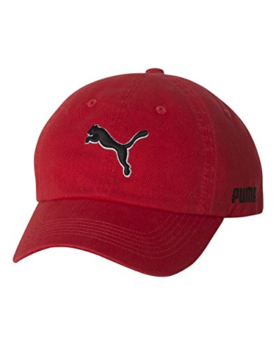 PUMA PSC1001 Men's Icon Relaxed Fit Cap Red One Size Puma Woven Cap
