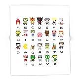 Society6 Video Games Pixel Alphabet 88'' x 104'' Blanket