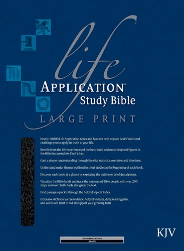 (KJV Life Application Study Bible, Second Edition, Large Print (Red Letter, Bonded Leather, Black, Indexed))