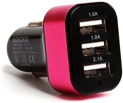 Cargador para el Coche de Smartphone Yokkao® 3 Puertos USB (1A 2.1 ...