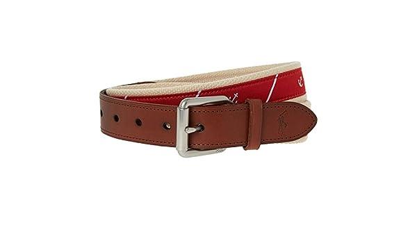 Polo Ralph Lauren Cinturón - para hombre Rojo Red Anchor 90 ...