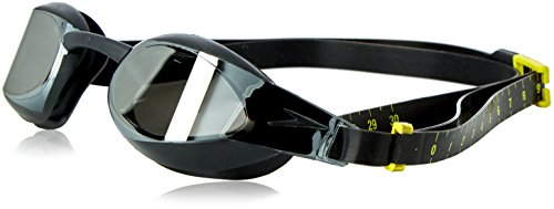 Speedo Adult Fastskin3 Elite Mirror Goggle, Black/Smoke
