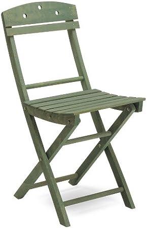 Silla plegable de madera, color verde juego de 4 sillas-Ale 2: Amazon.es: Hogar