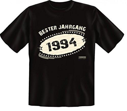 Birthday Shirt - Bester Jahrgang 1994 - Lustiges T-Shirt als Geschenk zum Geburtstag - Schwarz