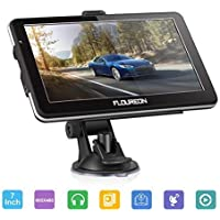 FLOUREON 7 Inch Capacitive LCD Touch Screen Truck&Car GPS Navigation SAT NAV Navigator Lifetime Map Updates 8GB(Black)