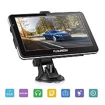 FLOUREON 7 inch Capacitive LCD Touch ScreenTruck&Car GPS Navigation SAT Nav Navigator Lifetime Map Updates 8GB