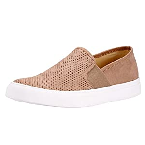 Sofree Women's Fashion Casual Slip-On Loafers Classic Sneakers