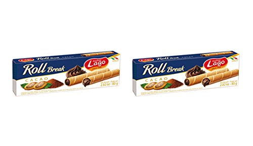 - Gastone Lago, Roll Break Light and fragrant wafer rolls Chocolate filled with soft, velvety cream - 2.8 oz. 2-Pack (Chocolate, 2-Pack)
