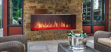 Amazon Com Lanai Outdoor Single Sided Linear Fireplace W