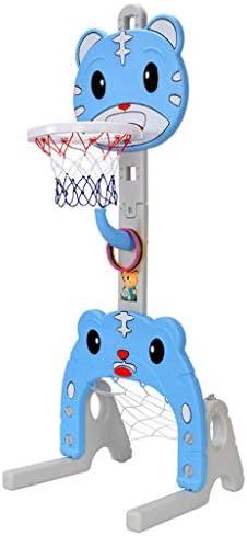 子供のバスケットボールラックは、屋内赤ちゃんのおもちゃのボール1-2-3-6歳の少年ホームフットブルーボールフレームを昇降可能