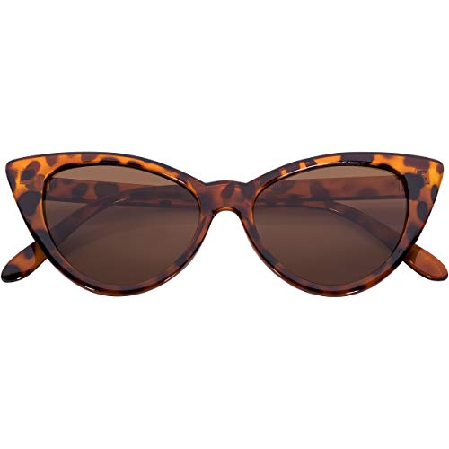 Ladies Vintage Cat Eye Sunglasses UV Protection Many Colors Leopard Frame