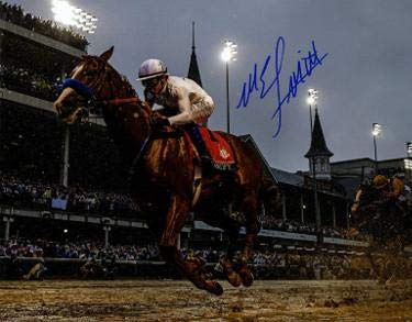 Mike E. Smith signed Justify 2018 144th Kentucky Derby 8x10 Photo Triple Crown- Hologram - Steiner Sports Certified