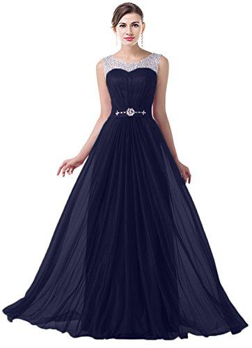 VaniaDress Women Elegnat Rhinestone Bridesmaid Evening Dress Prom Gown V004LF Navy Blue US22W from VaniaDress
