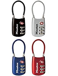 Master Lock 4688D TSA Accepted Cable Luggage Lock in Assorted Colors, 1-Pack