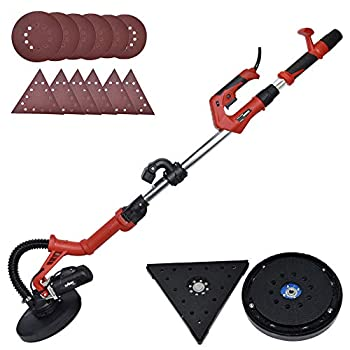 Image of Drywall Sander - 6.5A Dual-Head Automatic Vacuum System, Variable Speed 1200-2500 RPM/12 Sanding Discs/Extendable Hand/Long Dust Hose Electric Drywall Sander Disc Sanders
