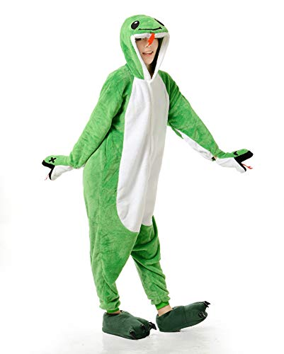Snake Costume - Adult Onesie Snake Pajamas Animal Halloween