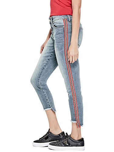 GUESS Factory Women's Women's McGuire Striped-Trim Capris