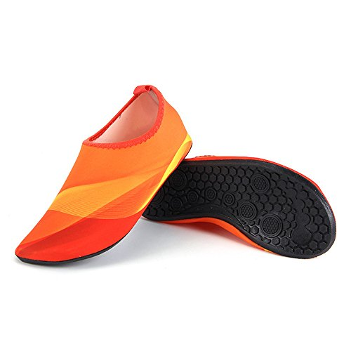 HYSENM Skin Water Beach Swim Yoga Shoes Kids Socks Unisex For Surf Aqua orange Functional Barefoot Multi XqTx4Xfr