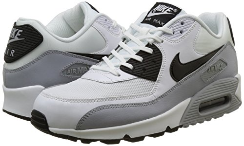 Max Running white Wmns Nike Da Scarpe Air Essential black Donna 90 Grey Bianco wolf qEw60f