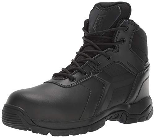 Battle Ops Men's 6-inch Waterproof Side Zip Tactical Boot Comp Safety Toe BOPS6002 Military, Black Oil Tanned, 9 Medium Wide ()