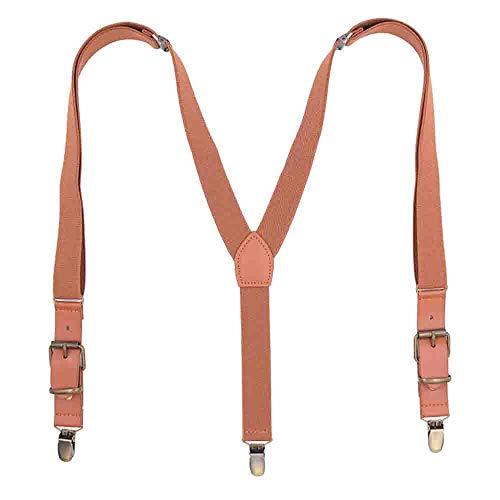Leather Brown Suspenders for Men, Vintage Wedding Fashion Men