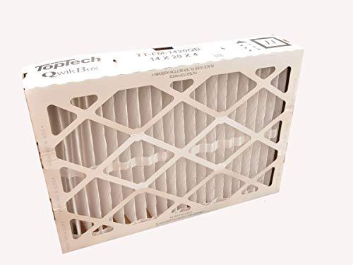 TopTech TT-FM-1420QB QuickBox(R) TechPure TTFM1420QB Air Filter 14x20x4 Top Tech OEM Cartridge 14 by 20 by 4 in Furnace MERV 11 for Carrier TT-MAC-1422 With Dakota Supplies Installation Sticker by Dakota Supplies
