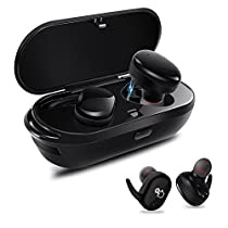 PZX Bluetooth イヤホン【タッチ型】左右分離型 片耳でも両耳でも使用可能 高音質 超軽量 Bluetooth4.1 ワイヤレス ブルートゥース 充電機能搭載収納ケース iPhone Android対応