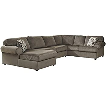Flash Furniture Signature Design by Ashley Jessa Place Sectional in Dune Fabric