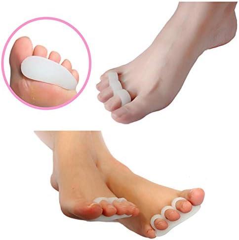 Tatapai Orthopädische Einlegesohlen 1 Paar ZehentrennerValgus Toes Überlappende Trennzehen Rehabilitation CorrectiveFive Holes