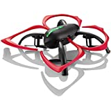 2.4 GHz Drone with Auto Hover, 6 Axis Gyro & Gaming Style Remote Control - Black / Red Flapperbot by Hover-Way