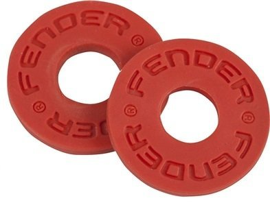 Fender genuine strap blocks 1 pair red for guitar & Bass 099-0819-000 (Genuine Fender)